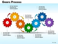 PowerPoint Process Gears Process Teamwork Ppt Slides