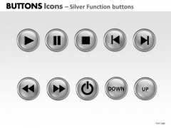 PowerPoint Process Graphic Buttons Icons Ppt Themes