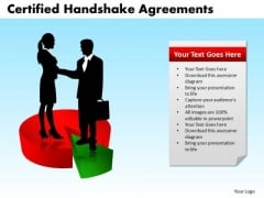 PowerPoint Process Graphic Certified Handshake Ppt Theme