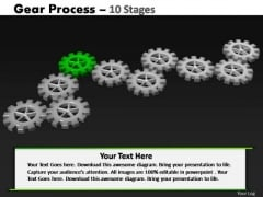 PowerPoint Process Graphic Gears Process Ppt Design