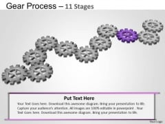 PowerPoint Process Graphic Gears Process Ppt Theme