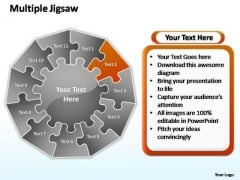 PowerPoint Process Graphic Multiple Jigsaw Ppt Backgrounds