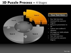 PowerPoint Process Graphic Pie Chart Puzzle Process Ppt Layout