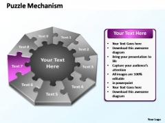 PowerPoint Process Graphic Puzzle Mechanism Ppt Design