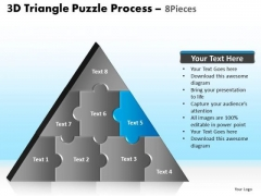 PowerPoint Process Graphic Triangle Puzzle Ppt Template