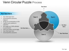 PowerPoint Process Growth Circular Puzzle Ppt Slidelayout