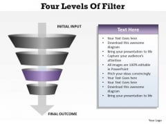 PowerPoint Process Growth Four Levels Ppt Template