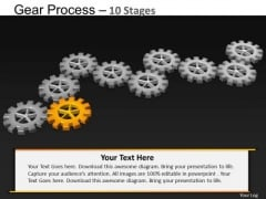 PowerPoint Process Growth Gears Process Ppt Template