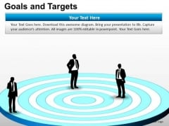 PowerPoint Process Growth Goals And Targets Ppt Layout