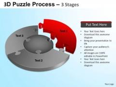 PowerPoint Process Growth Jigsaw Pie Chart Ppt Design Slides