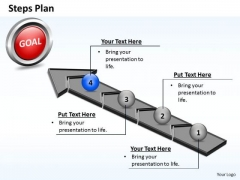 PowerPoint Process Growth Steps Plan 4 Stages Style 4 Ppt Theme