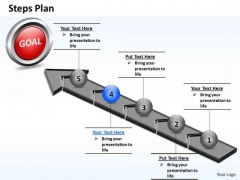 PowerPoint Process Growth Steps Plan 5 Stages Style 4 Ppt Theme