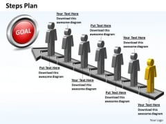 PowerPoint Process Growth Steps Plan 7 Stages Style 5 Ppt Theme