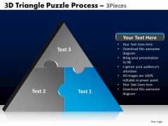 PowerPoint Process Growth Triangle Puzzle Ppt Theme