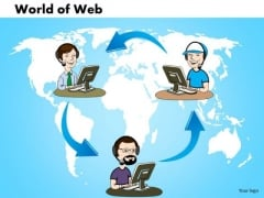 PowerPoint Process Growth World Of Web Ppt Slide