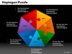 PowerPoint Process Heptagon Puzzle Graphic Ppt Template