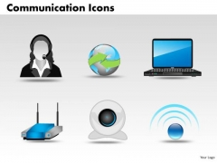 PowerPoint Process Leadership Communication Icons Ppt Design