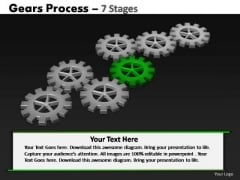 PowerPoint Process Leadership Gears Process Ppt Template