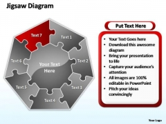 PowerPoint Process Leadership Jigsaw Ppt Slides
