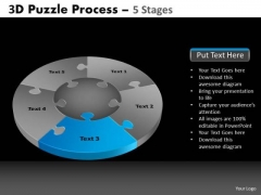 PowerPoint Process Leadership Pie Chart Puzzle Process Ppt Layout