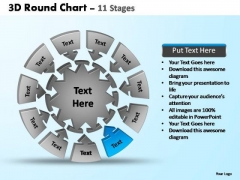 PowerPoint Process Leadership Pie Chart With Arrows Ppt Presentation