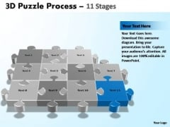 PowerPoint Process Leadership Puzzle Process Ppt Backgrounds