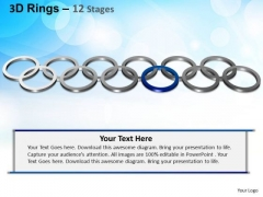 PowerPoint Process Leadership Rings Ppt Templates