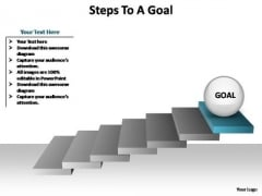 PowerPoint Process Leadership Steps To A Goal Ppt Design