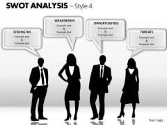 PowerPoint Process Leadership Swot Analysis Ppt Templates