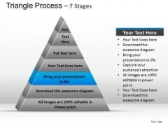 PowerPoint Process Leadership Triangle Process Ppt Template