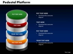 PowerPoint Process Pedestal Platform Image Ppt Presentation Designs