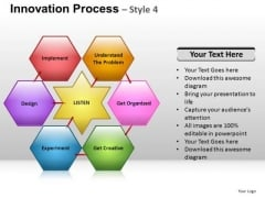 PowerPoint Process Process Hexagon Chart Ppt Slides
