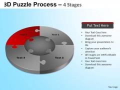 PowerPoint Process Process Jigsaw Pie Chart Ppt Slides