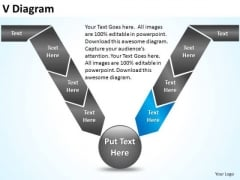 PowerPoint Process Process V Diagram Ppt Backgrounds