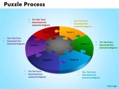 PowerPoint Process Puzzle Process Business Ppt Slides