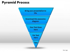 PowerPoint Process Pyramid Process Business Ppt Slides
