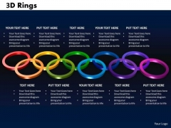 PowerPoint Process Rings Marketing Ppt Slides