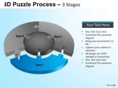 PowerPoint Process Sales Jigsaw Pie Chart Ppt Presentation