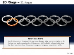 PowerPoint Process Sales Rings Ppt Templates