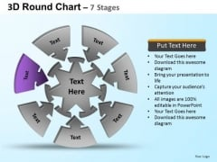 PowerPoint Process Sales Round Process Flow Chart Ppt Themes