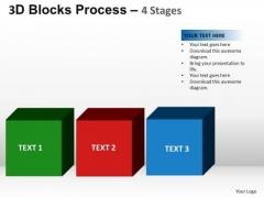 PowerPoint Process Strategy Blocks Process Ppt Slide