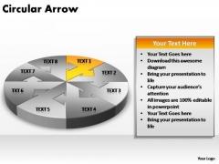 PowerPoint Process Strategy Circular Arrow Ppt Presentation
