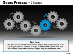PowerPoint Process Strategy Gears Process Ppt Designs