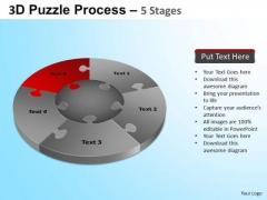 PowerPoint Process Strategy Jigsaw Pie Chart Ppt Design