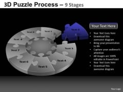PowerPoint Process Strategy Pie Chart Puzzle Process Ppt Slide Designs
