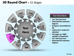 PowerPoint Process Strategy Pie Chart With Arrows Ppt Designs