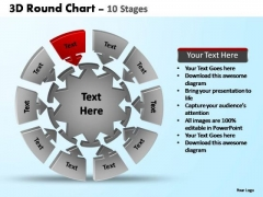 PowerPoint Process Strategy Pie Chart With Arrows Ppt Themes