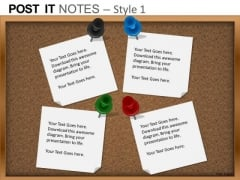 PowerPoint Process Strategy Post It Notes Ppt Backgrounds