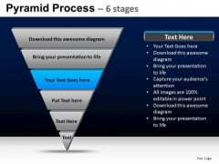 PowerPoint Process Strategy Pyramid Process Ppt Presentation