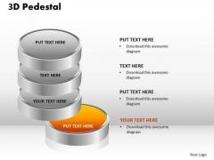 PowerPoint Process Success 3d Pedestal Ppt Backgrounds